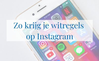Zo krijg je witregels op Instagram