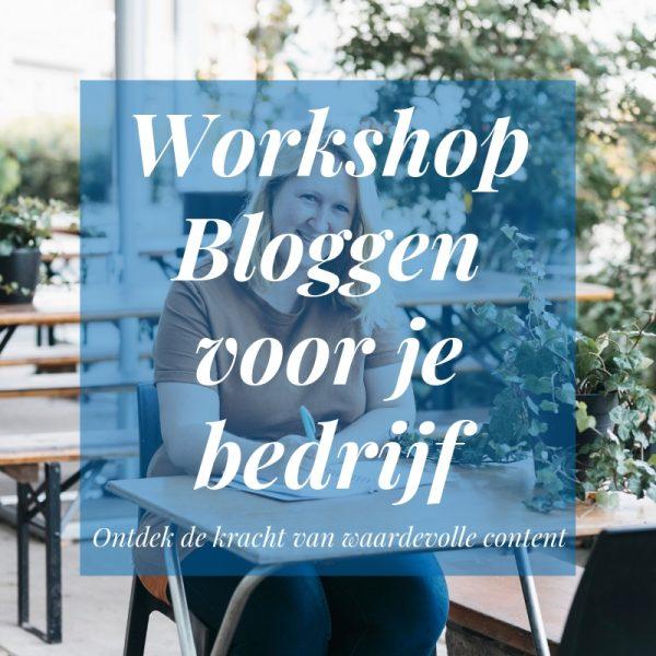 workshop bloggen voor je bedrijf