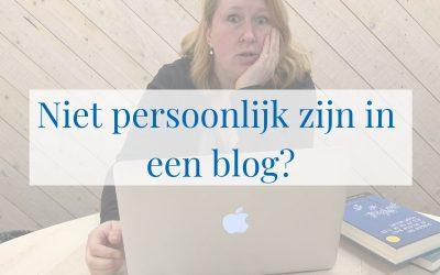 Ik sloeg stijl achterover; niet persoonlijk zijn in een blog?