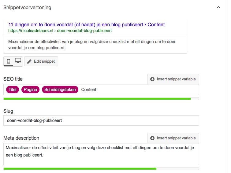 meta omschrijving aanpassen yoast plug-in