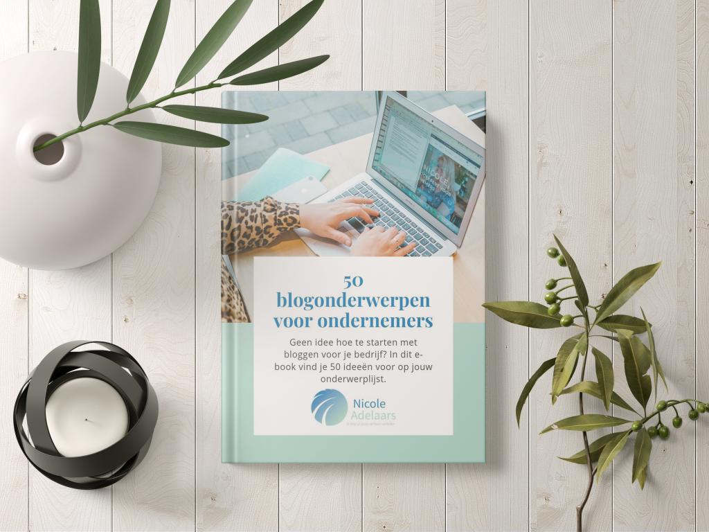e-book 50 blogonderwerpen voor ondernemers
