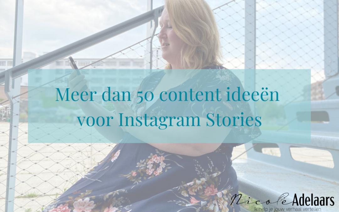Meer dan 50 content ideeën voor Instagram Stories