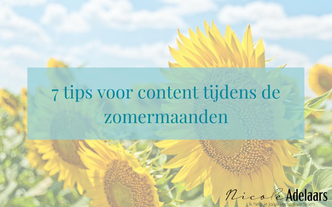 7 tips voor content tijdens de zomermaanden